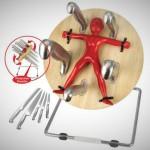 gift ideas for men - Throwing Knife Block Barbuzzo Throwzini
