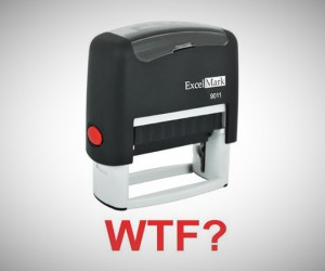 gift ideas for men - WTF Self Inking Rubber Stamp