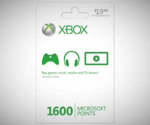 Microsoft xbox live points card